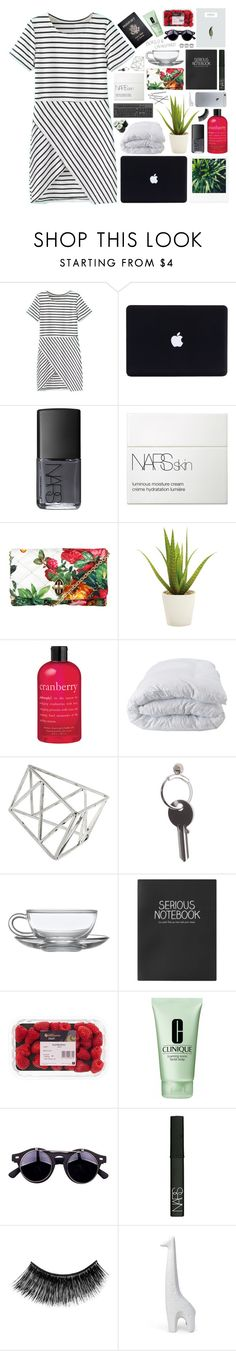 """""""//cause we're a page turner/heart warmer/science fiction fantasy//"""" by vanilla-chai-tea ❤ liked on Polyvore featuring NARS Cosmetics, Dolce&Gabbana, Alöe, philosophy, Soft-Tex, Passport, KEEP ME, Topshop, Maison Margiela and Clinique"""