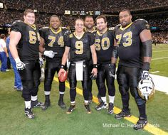 Saints Offensive Line Wins 2011 Madden Protectors Award!  Zach Strief(64), Jerome Bushrod(74), Carl Nicks(77), Brian De La Puente(60) & Jahri Evans(73).