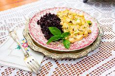 Ligia's Kitchen: Mancare vegana de dovlecei Acai Bowl, Risotto, Breakfast, Ethnic Recipes, Pop, Author, Acai Berry Bowl, Morning Coffee, Popular