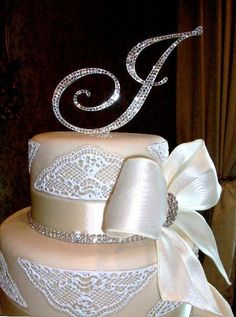Crystal Custom Monogram Cake Topper ANY letter by Chicsparkles Monogram Cake Toppers, Gold Cake Topper, Wedding Cake Toppers, Wedding Cakes, Fabian Gonzalez, Wedding Trends, Wedding Ideas, Wedding Stuff, Monogram Wedding