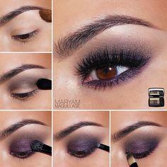 Maquillaje ojos morado