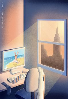 © Sara Gironi Carnevale - Rejected summer cover proposal for The New Yorker