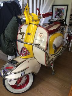 lambretta scooter tv sx gp series 2 li150 with gp 200 engine 1960 mod vw van