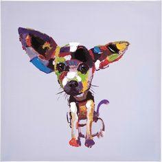 22c7c154743ca Olejomalba Chihuahua 50x50cm. Toiles Peinture AcryliqueTableaux ...