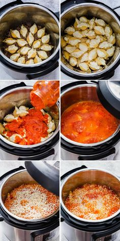 family loved this Instant Pot stuffed shells. So easy and so good! Our new family favorite pasta dish for sure!Our family loved this Instant Pot stuffed shells. So easy and so good! Our new family favorite pasta dish for sure! Instant Pot Pressure Cooker, Pressure Cooker Recipes, Pressure Cooking, Breville Pressure Cooker, Stuffed Shells With Meat, Stuffed Shells Recipe, Gourmet Recipes, Cooking Recipes, Lunch Recipes