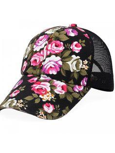 b64d240ff7a Fashion Floral Snapback Hip-Hop Hat Flat Peaked Baseball Cap - Black -  CS12IYFLC33