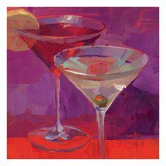 Martini in Magenta by Patti Mollica. Print from Art.com, $29.99