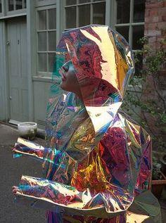 Clear Iridescent Raincoat