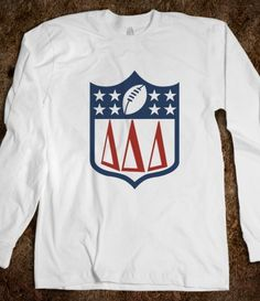 Delta Delta Delta NFL Long Sleeve. Perfect for Falcons Date Night