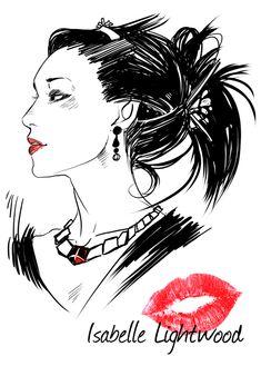 Cassandra Jean Cassandra Clare Isabelle Lightwood sketch sorry it isn't fancy ;___; still kinda fuzzy from being sick.