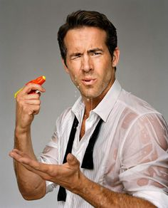 ryan reynolds wet? yes please!