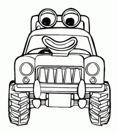 traktor tom coloring pages - photo#2
