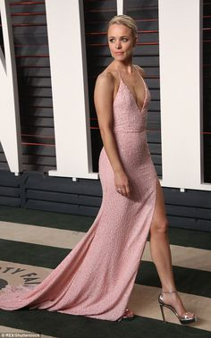 Catching the light: The Canadian born actress looked radiant in her pink ensemble which co...