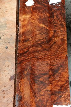 Is this wood or marble? ....  Almost hard to tell!!  It's Quilted Bubinga.  ~ Hearne Hardwoods Inc.