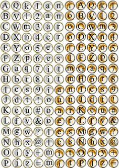 FREE printable typewriter key character sheet // alphabet // letters