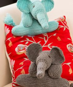 Elephant Crochet Pattern Free From Red Heart - amigurumi toy