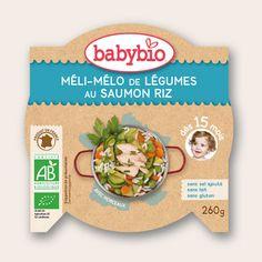 Mon P'tit Plat - Méli Mélo de Légumes au Saumon Riz - dès 15 mois - Produit en France - Babybio