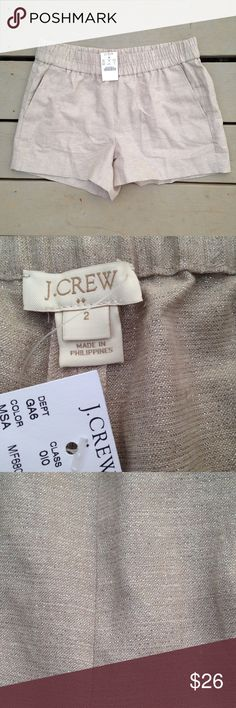 J. Crew shorts Khaki color with some sparkle woven in. Never wore! NWT! Reasonable offers always considered:) J. Crew Shorts