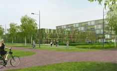 Design for green parking garage Wageningen University Sidewalk, Garage, University, Van, Green, Design, Carport Garage, Vans, Walkways