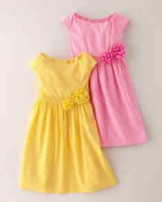 Thinking about these for Easter.  Yellow for Chloe and Pink for Belle.  Garden Party Cotton Dress - Baby Girls & Girls