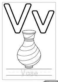 Alphabet Coloring Page Letter V Coloring V Is For Vase Alphabet Coloring Alphabet Coloring Pages Abc Coloring Pages