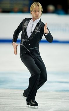 Evgeni Plushenko  - Men's Figure Skating / Ice Skating dress inspiration for Sk8 Gr8 Designs.