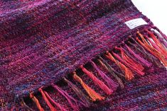 Handwoven Scarf by Liz Christy. Valley of the Creuse'~ Bohemian Orchid Irish Design, Monet Paintings, Textile Design, Wearable Art, Hand Weaving, Scarf Ideas, Swallow, Sheep, Weave