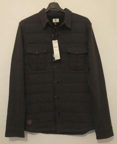 O'NEILL Originals Mens Shirt Warm Fleece Lined Sweatshirt Metal Button Size M