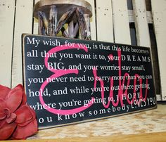 Personalized My Wish for You Name Sign for Nursery Decor on Wood or Canvas