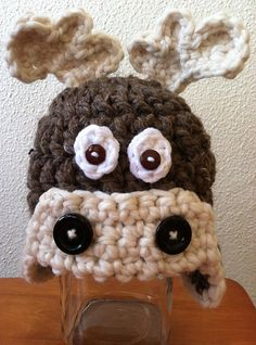 Hey, I found this really awesome Etsy listing at https://www.etsy.com/listing/179328332/moose-hat