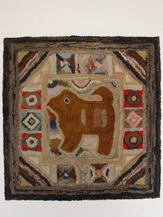 Hooked rug found outside of Hagerstown, Maryland  Circa 1890-1915