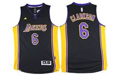 29f6fabb0b0 Men s Los Angeles Lakers Jordan Clarkson Revolution 30 Swingman Black With  Purple Jersey