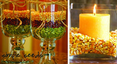 Thanksgiving DIY decorating ideas with seeds