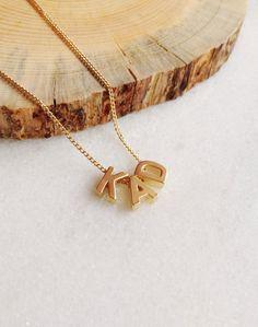 Monogram Necklace // Elizabeth Volk Design