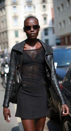 Black Leather Jacket 90's Fashion