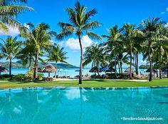 See the beautiful Four Seasons Bora Bora pool and beach. Four Seasons Bora Bora, Bora Bora Resorts, Beautiful Islands, Most Beautiful, World, Beach, Amazing, Outdoor Decor, Seaside