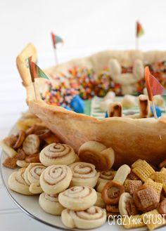 Cake Batter Dessert Snackadium by www.crazyforcrust.com | An edible stadium filled with cake batter dip! #cakebatter #pillsbury #football