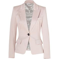 EMILIO PUCCI Blush One Button Stretch Cotton Blazer ($2,210) ❤ liked on Polyvore
