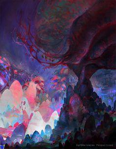 Xenthropa by ProjectOsxar on DeviantArt Art Inspo, Fantasy Art Landscapes, Painting, Fantastic Art, Illustration Art, Cool Art, Visual Art, Pretty Art, Beautiful Art