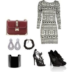 """Black stripes"" by smile-laugh on Polyvore"