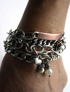 SToNZ Bracelets  http://www.etsy.com/shop/SToNZ    #stonz #silver