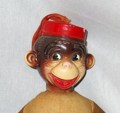 Bell hop monkey doll by BoondockFinds on Etsy