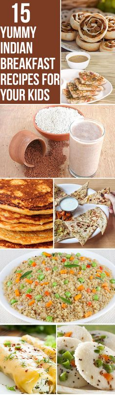 Top 15 Yummy Indian Breakfast Recipes For Your Kids No kids but these sound good anyway. Brunch Recipes, Baby Food Recipes, Indian Food Recipes, Breakfast Recipes, Cooking Recipes, Indian Recipes For Kids, Easy Recipes, Brunch Food, Drink Recipes