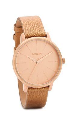 Nixon Часы с кожаным ремешком Kensington