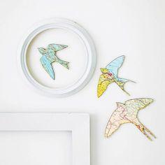 set of three flying birds by bombus   notonthehighstreet.com