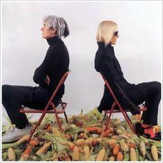 My first art teacher Marta Minujin w/ Andy Warhol