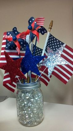 53 Cool 4th July Centerpieces In National Colors | DigsDigs
