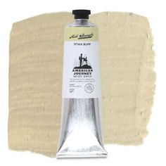 American Journey Artists' Acrylic, Titan Buff is a light, yellow-grey and is ideal for highlights in portraits and landscape paintings. Available in a 150 ml. tube. #ArtSupplies #AcrylicPainting #Acrylic