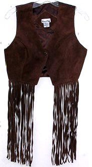 Oh I had one of these only mine was all around fringes that hung to just above the knees - brown suede leather... so cool!