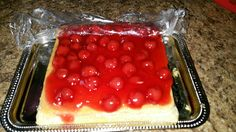 Flan with cherries